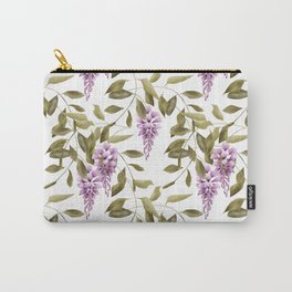 The Branches Of Wisteria .  White background . Carry-All Pouch