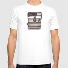 Ballpoint Palaroid Camera White MEDIUM Mens Fitted Tee