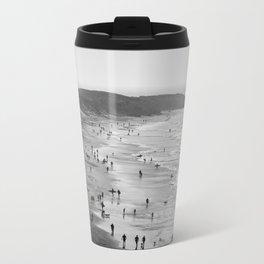 A Day at the Beach Metal Travel Mug