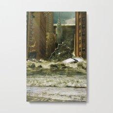 Water vs City Metal Print