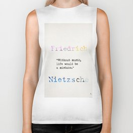 Friedrich Nietzsche quote 2 Biker Tank