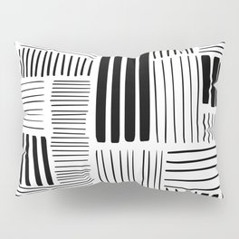 Black and White Abstract Pattern Pillow Sham