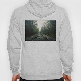 Creepy foggy railroad Hoody