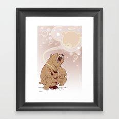 Baby Bear is sleeping Framed Art Print