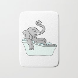 Bathtub elephant Bath Mat