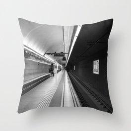 Metro B and W Throw Pillow
