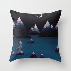 so quiet Throw Pillow