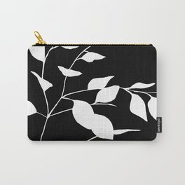 White Leaves Carry-All Pouch