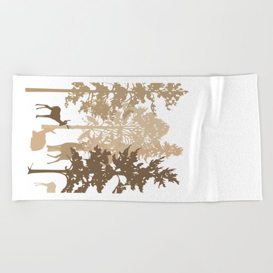 Morning Deer In The Woods No. 2 Beach Towel