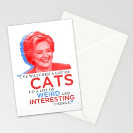 I've watched a lot of CATS! Stationery Cards