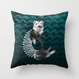 Ferret Slinky Throw Pillow