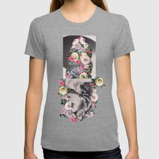 Floral Dreams Tri-Grey SMALL Womens Fitted Tee