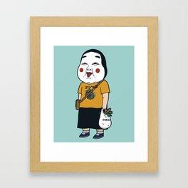 Joyful Girl Framed Art Print