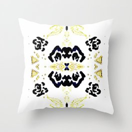 Gold and Black Classical Pattern Throw Pillow