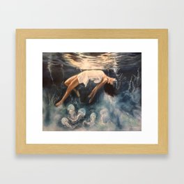 Beneath the Surface Framed Art Print