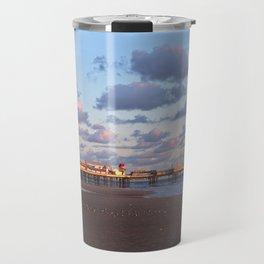 Blackpool Central Pier Sunset Travel Mug
