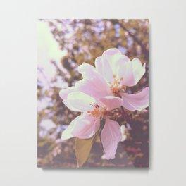 Pastel pink tree Metal Print