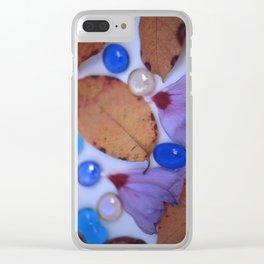 AUTUMN PETALS & GLASS 2 Clear iPhone Case
