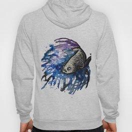 Galaxy Betta Fish Watercolor Hoody