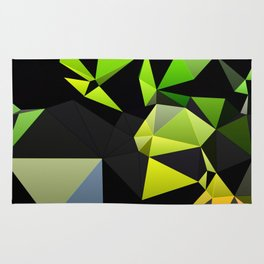Polygon Rainbow Rug