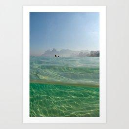 Entre mer et terre à Rio, plage d'Ipanema Art Print