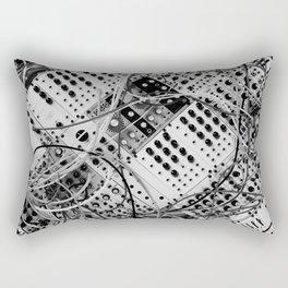 analog synthesizer  - diagonal black and white illustration Rectangular Pillow