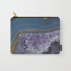 Amethyst Geode Agate Carry-All Pouch