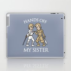 Hands Off My Sister Laptop & iPad Skin