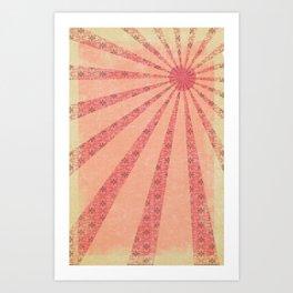 Pink Rays  Art Print