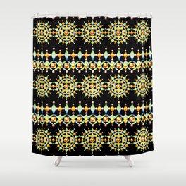 Bijoux Sunburst Stripe Shower Curtain