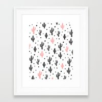 cactus Framed Art Prints featuring Cactus  by Make-Ready