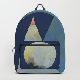 Full Moon Night Sky and Mountains Backpack