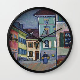 Wassily Kandinsky - Murnau  Top Of The Johannisstrasse Wall Clock