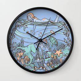 What Lurks Beneath Wall Clock