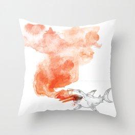 Shark Attack!  Throw Pillow