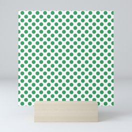 Kelly Green Small Polka Dots Mini Art Print