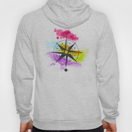 Watercolor Compass Hoody