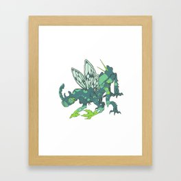 Buggin' Blue Framed Art Print
