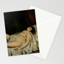 Gustave Courbet - Sleeping Nude Stationery Cards