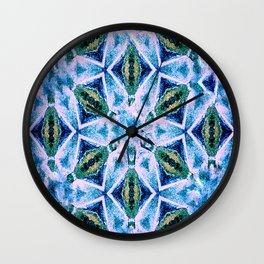 Geometric pattern in purple and blue Wall Clock