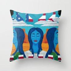 Blue Women Throw Pillow