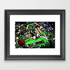 Digital Electrons Framed Art Print