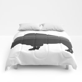 Buffalo print, Black & White Comforters