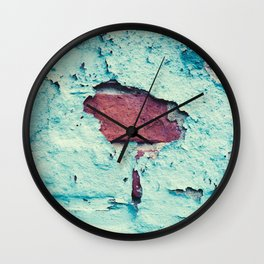 Turquoise Grunge Texture 5 Wall Clock