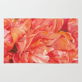 watercolor tulip flower Rug