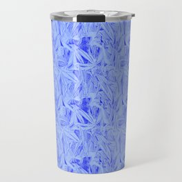 Blue Cut Glass Look Travel Mug