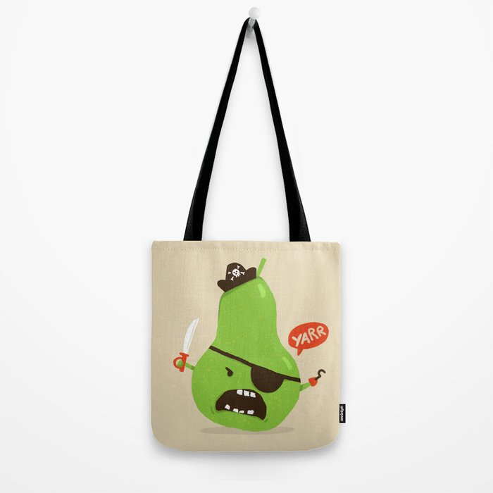 Pear-ate a.k.a The Angry Pirate Tote Bag