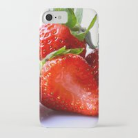 strawberry iPhone & iPod Cases featuring Strawberry by Nicole Mason-Rawle