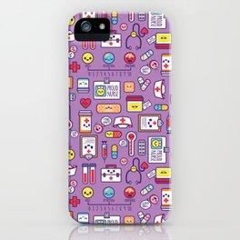 Proud To Be a Nurse Pattern / Purple iPhone Case