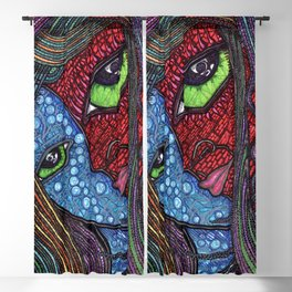 Hot and Cold Green Eyes Blackout Curtain